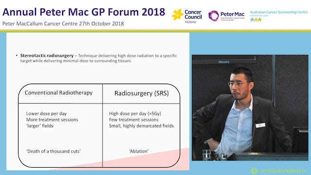 Radiotherapy for Primary Care Practitioners Dr David Kok
