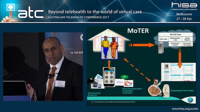 Virtualising care in future health services delivery Dr Mohan Karunanithi