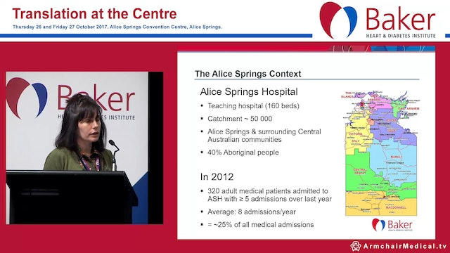 Alice Springs Hospital Readmission Prevention Project Dr Gabby Diplock
