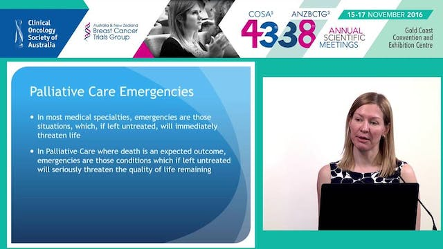 Palliative care emergencies Dr Nicola...