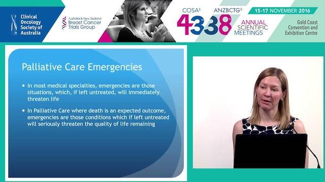 Palliative care emergencies Dr Nicola Morgan