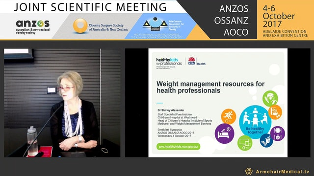 Healthy Kids for Professionals weight management resources for health professionals Dr Shirley Alexander