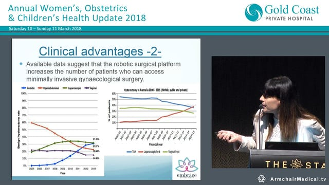 Recent advances in Gynaecology from robotic surgery to menopausal hormone therapy Dr Helen Green, Gynaecologic Oncologist