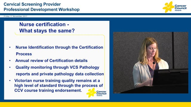 Nurse Certification Clare O'Reilly