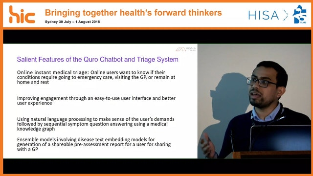 Quro Facilitating user symptom check using a personalised chatbot-oriented dialogue system Dr Shameek Ghosh