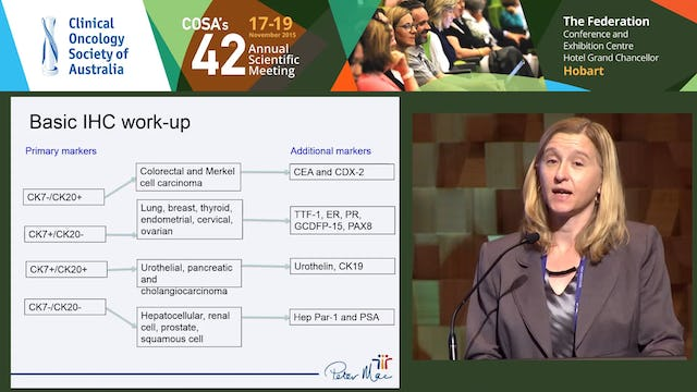 Linda Mileshkin Carcinoma of Unknown Primary - How can a dedicated clinic and molecular profiling help