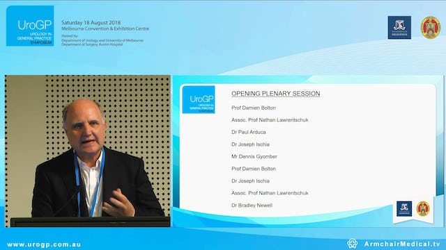 Issues in urologic education for the GP, Dr Paul Arduca