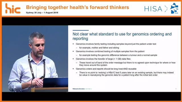 A FHIR approach to designing a genomic ordering system Dr Andrew Patterson