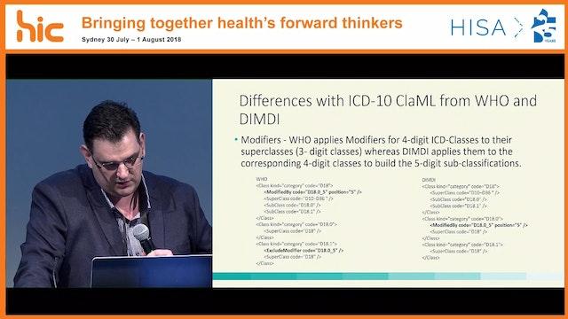 Representation of ICD-10-AMACHI using classification markup language (ClaML) Robert David Smith