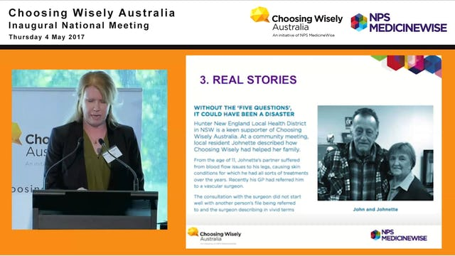 Choosing Wisely in Australia. Dr Robyn Lindner - Client Relations Manager, Health Technologies, NPS MedicineWise