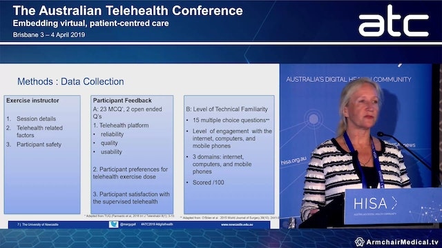 Cardiorespiratory fitness training sessions delivered via telehealth are safe, feasible and acceptable for community-dwelling stroke survivors Margaret Galloway