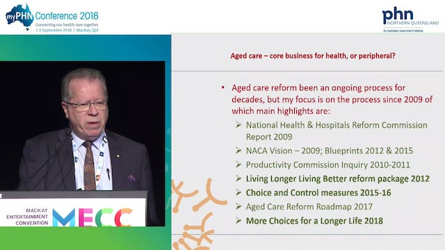 Current and future aged care reform—Core business for health or peripheral Ian Yates Chief Executive, COTA