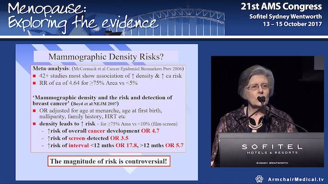 The breast density controversy Dr Mary Rickard