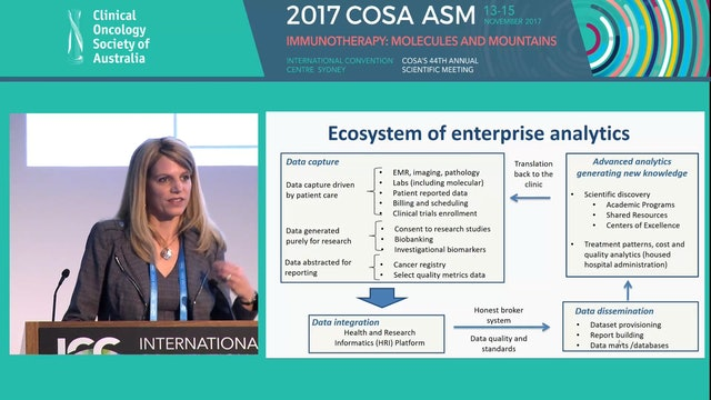 An enterprise-wide analytics strategy to drive change in cancer care delivery and research Dana Rollison