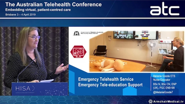 ETS - Emergency Tele-education Support. An education program designed to support and enhance the provision of virtual emergency care Melanie Goode Emergency Telehealth Nurse Educator, WA Country Health Service
