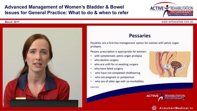 Physiotherapy & Pelvic Organ prolapse Amelia Samuels