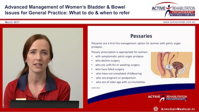 Physiotherapy & Pelvic Organ prolapse...