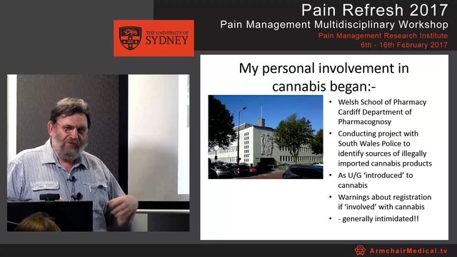 Cannabis and Persistent Pain Mr Tony Hall