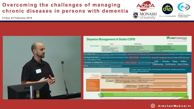 Management of COPD in people with dementia Mr Craig Edlin
