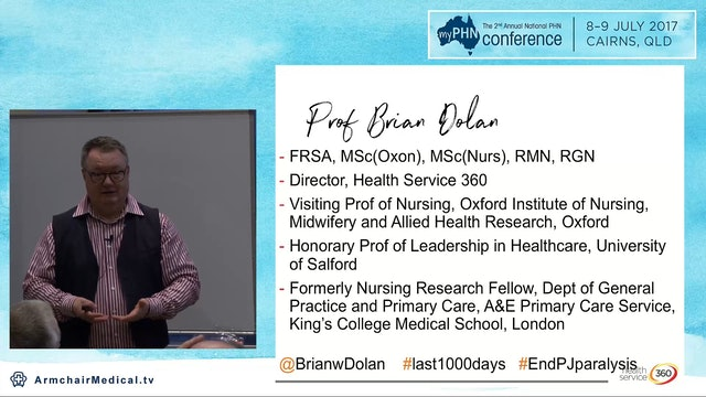 Make patient time the most important currency in healthcare Prof Brian Dolan