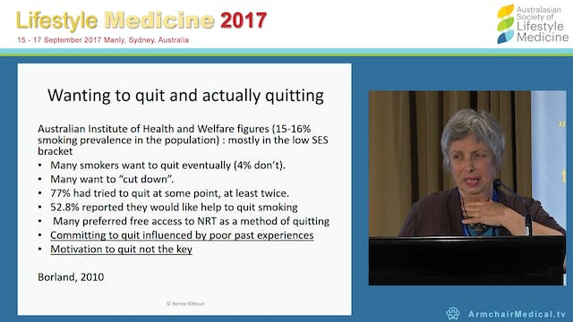 Smoking Motivating the Unmotivated Prof Renee Bittoun