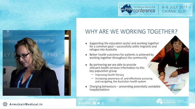 Collaboration across the health education sectors for the benefits of migrants Renee Riddle SNPHN