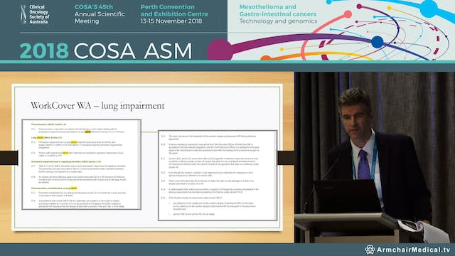Occupational (Lung) Cancers and Compensation - Assoc Prof Euan Thompson