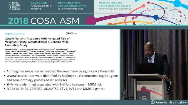 Genetics in mesothelioma - Prof Dean ...