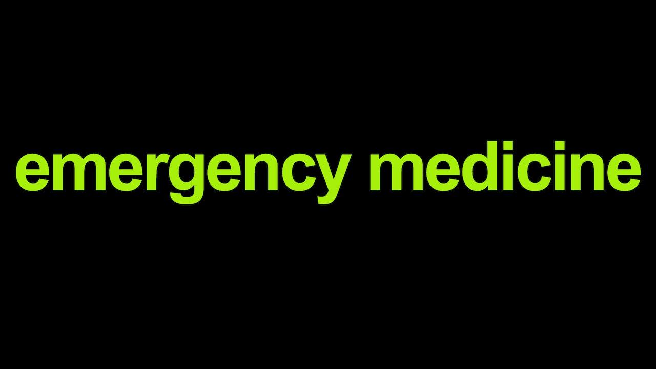 Emergency medicine Blurred