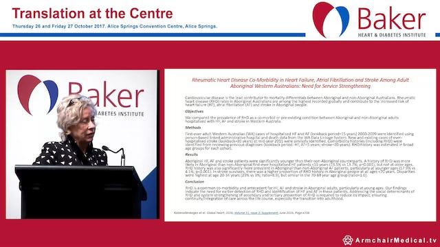 Stroke and CVD risk in Indigenous Australians a health economics approach Prof Robyn McDermott