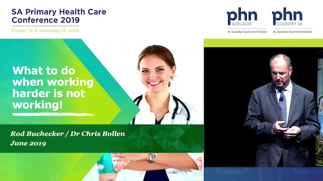 What to do when working harder is not working Rod Buchecker & Dr Chris Bollen