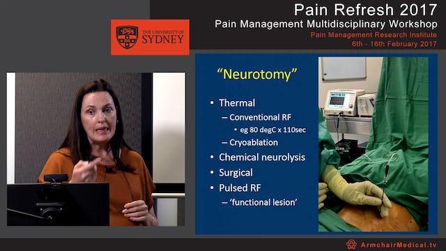 Procedural interventions in Pain Medicine Dr Rebecca Martin