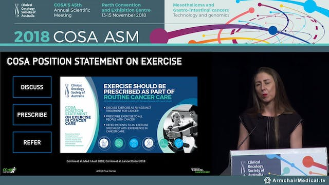 Implemention of Exercise in Cancer Care - Assoc Prof Prue Cormie