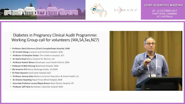 Establishing the ADIPS Diabetes in Pregnancy Clinical Audit Programme - David Simmons