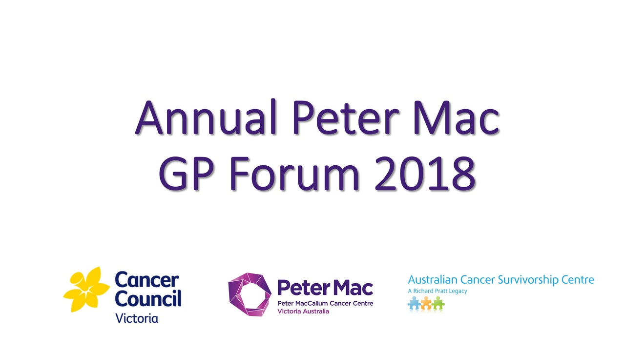 Peter Mac GP Forum 2018