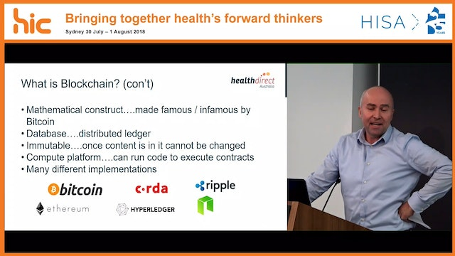 Blockchain and how this technology could impact healthcare Dr Michael Costello