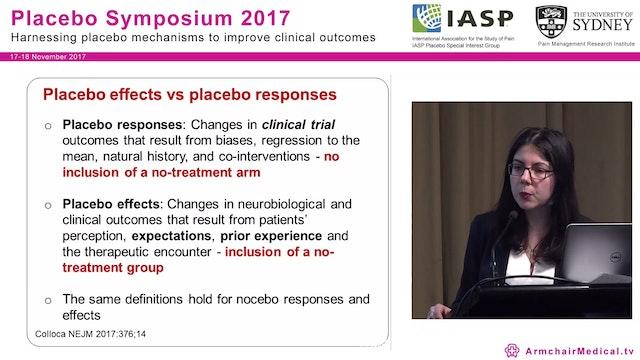 Biological mechanisms of placebo effects Assoc Prof Luana Colloca