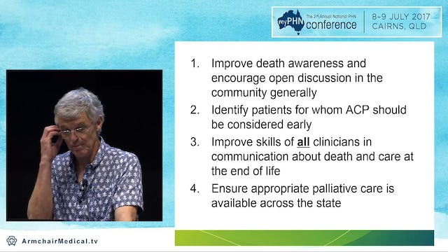 Dying in the 21st Century - planing for a finite life Dr Will Cairns