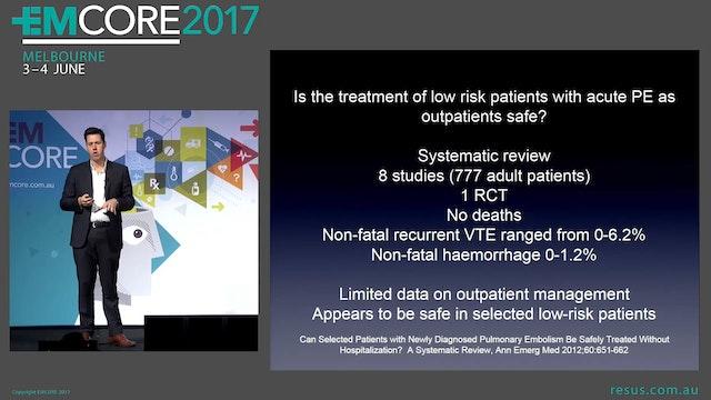 Outpatient Management of PE Dr James ...