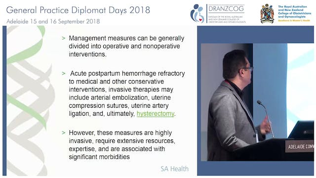 The Difficult delivery, LSCS, PPH and Bakri Dr Anupam Parange