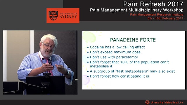 Pharmacology of pain management Paracetamol, Opioids and Tramadol Dr Ross MacPherson