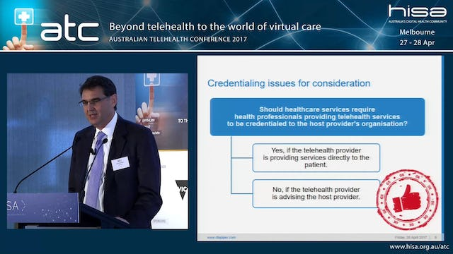 Medico-legal aspects of telehealth moving into virtual care Michael Regos