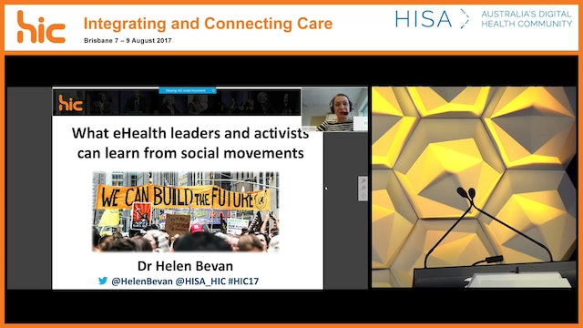 What e-health leaders and activists can learn from social movements Dr Helen Bevan