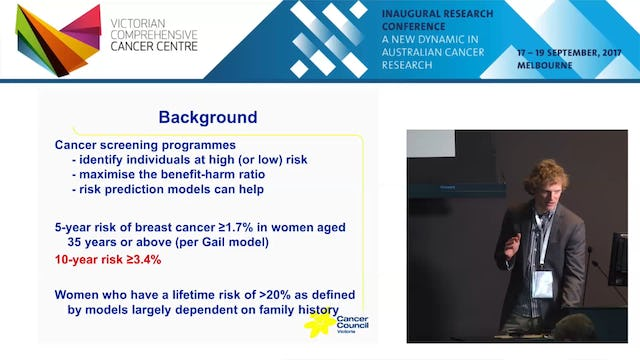 Predicting breast cancer incidence determining what information is important - Robert MacInnis