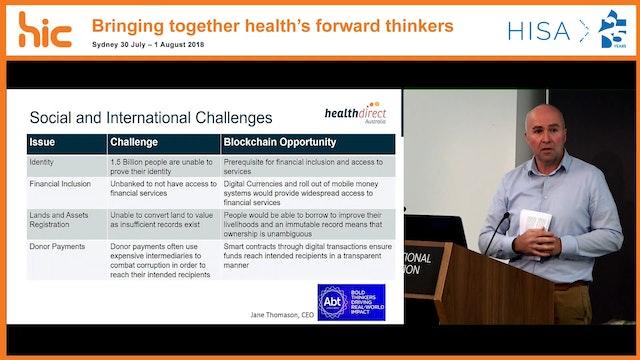 Blockchain in Healthcare is it a craze Dr Michael Costello