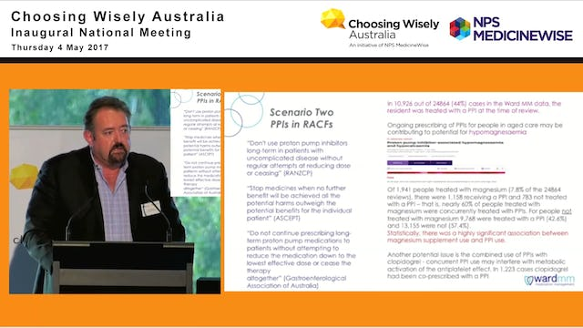 Using data to support Choosing Wisely principles in the Australian aged care setting. Dr Chris Alderman - Director of Clinical Excellence, Ward Medication Management
