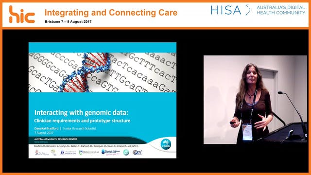 Interacting with genomic data Clinician requirements and prototype structure Dr Dana Bradford