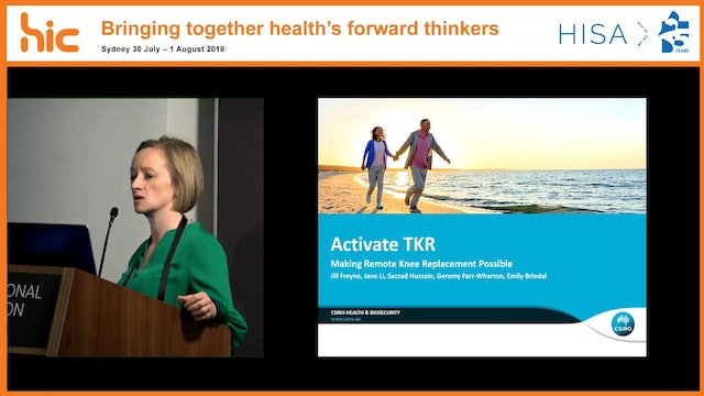 Activate TKR Making full knee recovery remotely possible Dr Jill Freyne