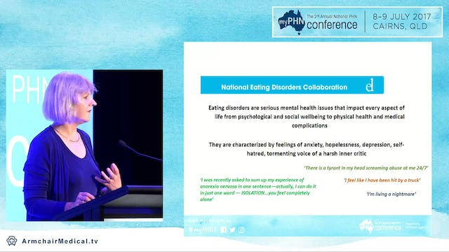 Social determinants of health Eating Disorders Treatment - the future through PHNs