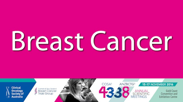 Breast Cancer Clinical Oncology Society 2016